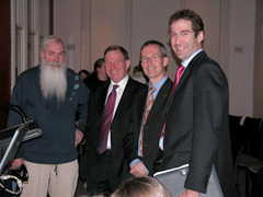 At the Natura Morta opening: Dr Tim Entwisle from the Botanic Gardens Trust (second on right) with NSW DPI's Dr Murray Fletcher, Mr Doug Hocking and Dr Nick Austin.