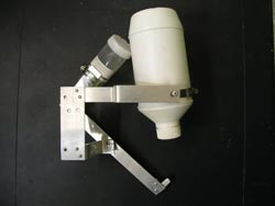 The Falling Stage Sampler is designed to take water samples from creeks and rivers after rain.